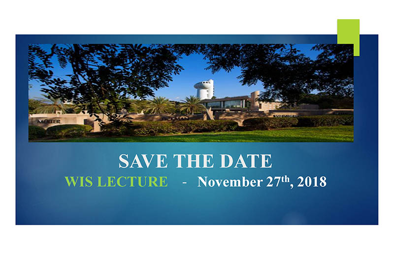 Weizmann Institute of Science - WIS Lecture - Save the Date